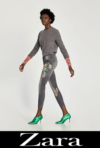 Zara Embroidered Jeans Fall Winter Women 3