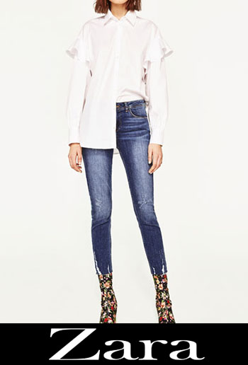 Zara Embroidered Jeans Fall Winter Women 6