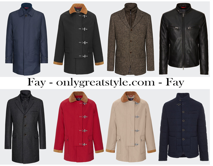 Fay Fall Winter 2017 2018 Outerwear For Men