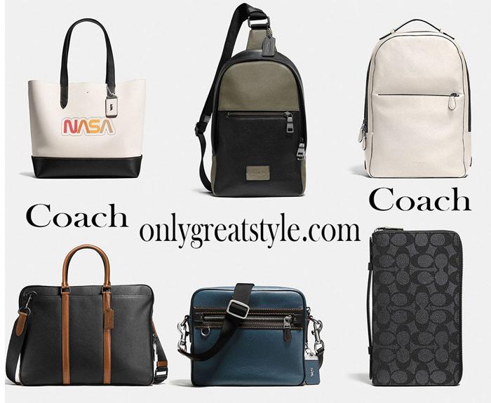 Fashion news Coach for men handbags