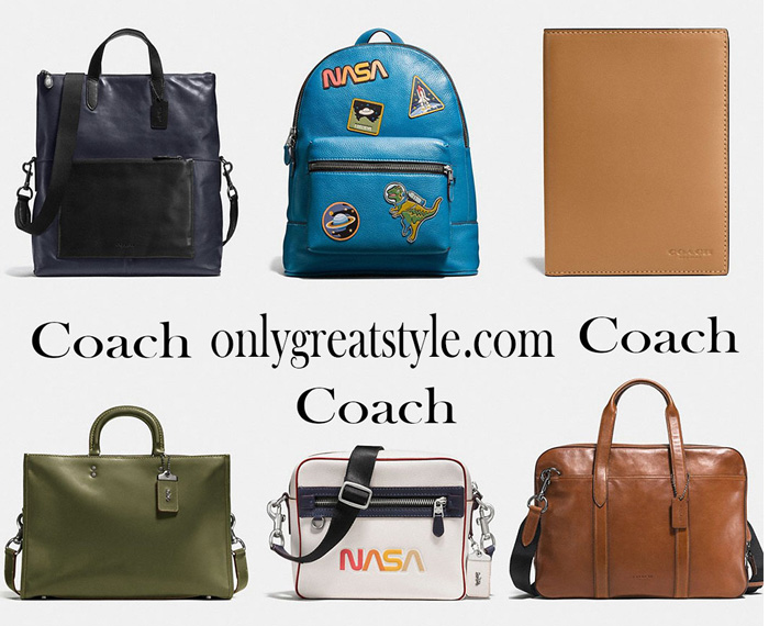 New arrivals Coach bags for him 2017 2018