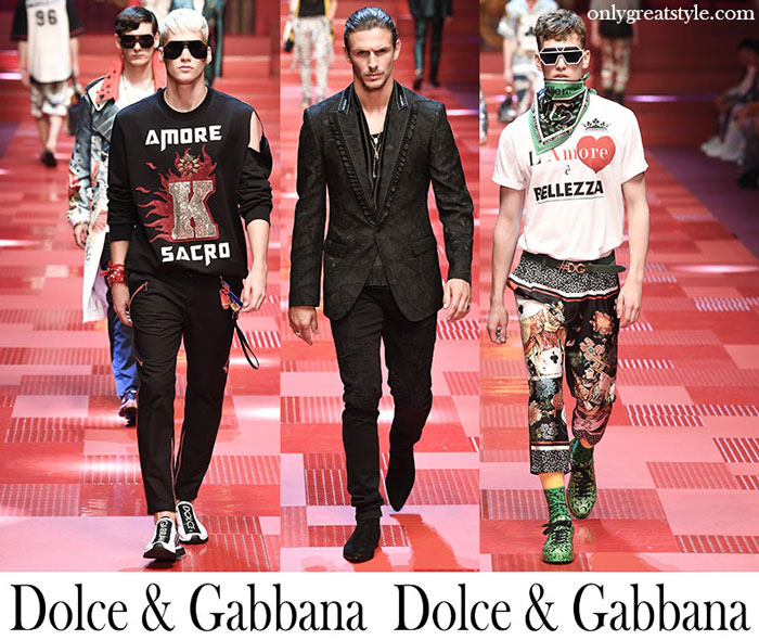Clothing Dolce Gabbana Spring Summer Men's Fashion