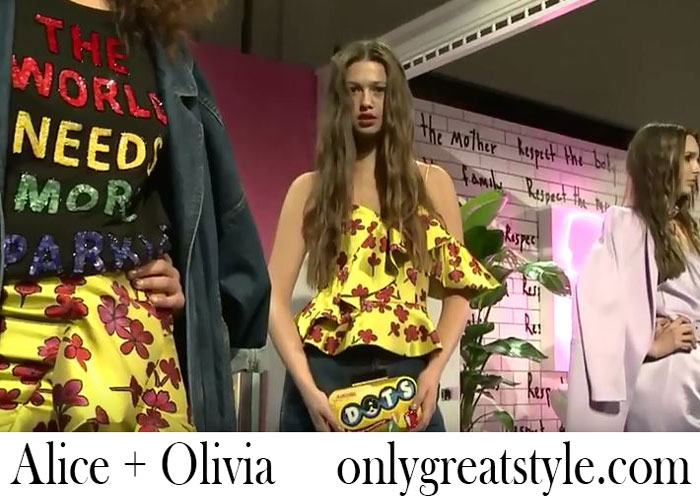 Fashion Show Alice Olivia Spring Summer 2018 Women's