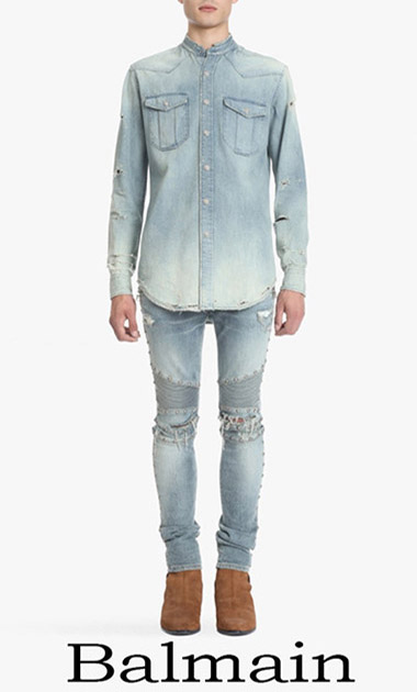 Clothing Balmain Shirts Spring Summer Men's