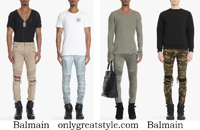 New Arrivals Balmain Jeans Men's Spring Summer