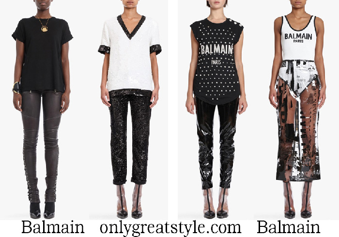 New Arrivals Balmain T Shirts Women's Spring Summer