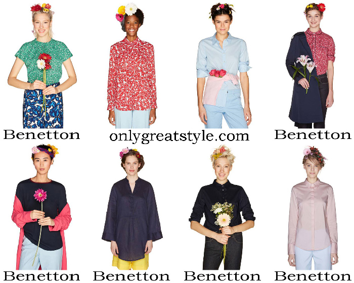 New Arrivals Benetton Shirts Spring Summer Women's