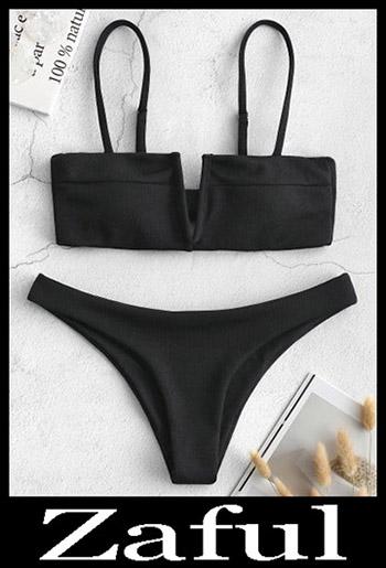 Padded BikiniZAFUL Knot V Wired Ribbed Bikini Set