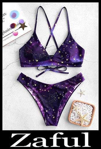 Criss Cross BikiniZAFUL Galaxy Print Crisscross Reversible Bikini Set