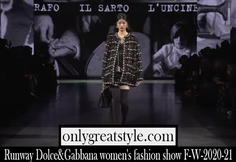 Fashion show Dolce Gabbana 2020 21 F W womens runway