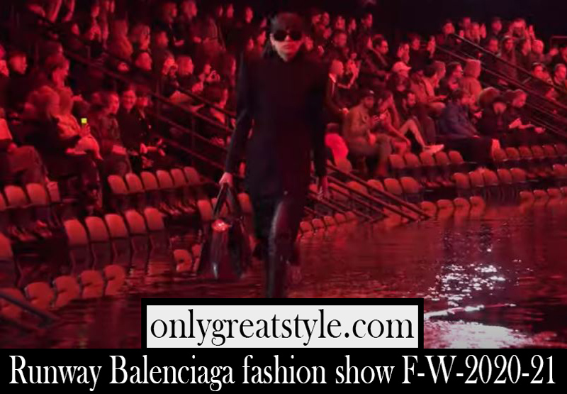 Runway Balenciaga fashion show F W 2020 21