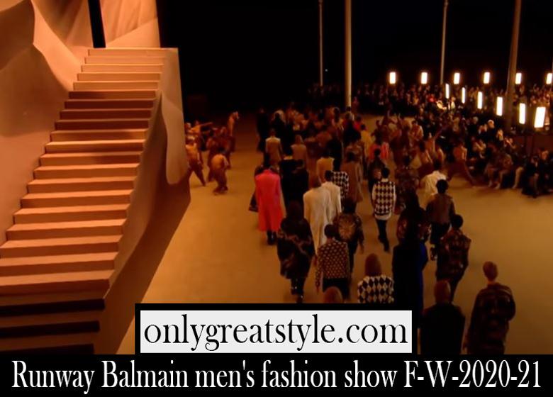 Runway Balmain mens fashion show F W 2020 21